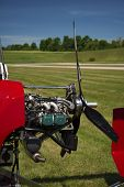 stock photo of gyrocopter  - Close - JPG
