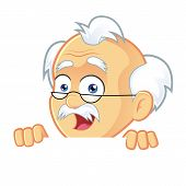 picture of professor  - Vector of a Professor Cartoon Character Holding and Looking Over a Blank Sign Board - JPG