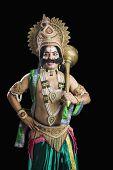 stock photo of ravana  - Portrait of a man dressed - JPG