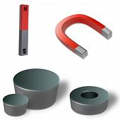 foto of south-pole  - Different types of magnets - JPG