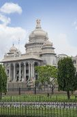 image of vidhana soudha  - Trees in front of a government building - JPG