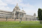 foto of vidhana soudha  - Government building viewed from a garden - JPG