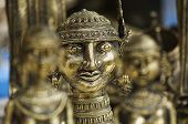 picture of metal sculpture  - Antique metal sculptures at souvenir shop - JPG
