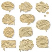 stock photo of bubble sheet  - Background With Speech Bubbles - JPG