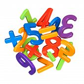 stock photo of numbers counting  - A heap of colorful numbers icon - JPG