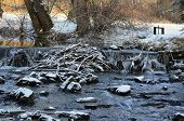picture of bohemia  - rapidly flowing water South Bohemia Czech Republic - JPG
