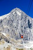 stock photo of ropeway  - cable car to Lomnicky Peak - JPG