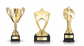 picture of trophy  - Cup trophy star award and dollar sign trophy - JPG