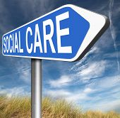 foto of social-security  - social care or health security healthcare insurance pension disability welfare and unemployment programs road sign arrow  - JPG