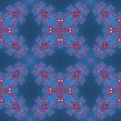 picture of mandelbrot  - Fractal floral pattern texture on blue background - JPG