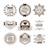 Retro Design Insignias Logotypes , Hand Made poster