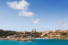 stock photo of gozo  - Port of Mgarr on the small island of Gozo Malta - JPG