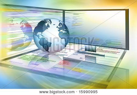 Постер, плакат: Лучший Интернет концепции глобального бизнеса от концепции серии