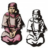 stock photo of cree  - Illustration of an indian woman - JPG
