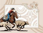 foto of brahma-bull  - Western Rodeo Background Series - JPG