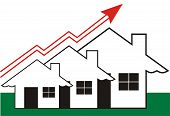 pic of graff  - Growth in Real Estate shown on white Background - JPG