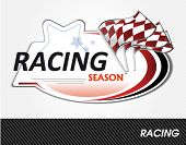racing sign - vector illustration