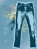 Jeans Background.vector Gunge Denim
