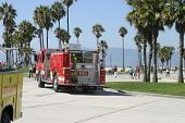 Emergency in Vencie Beach California. An unknown unidentifiable person suffers an apparent Heart Att