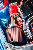 Sport Air Filter In A Gasoline Turbocharged Car Engine poster