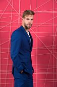 Male Fashion. Man Formal Clothing Looks Handsome And Confident. Menswear And Stylish Wardrobe Concep poster
