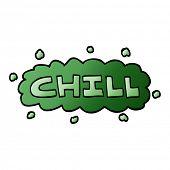 cartoon doodle chill symbol poster