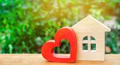 House With A Red Wooden Heart. House Of Lovers. Affordable Housing For Young Families. Valentines D poster