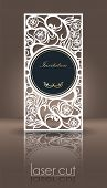 Die Laser Cutting Invitation Template For Celebration. Wedding Invitation Or Greeting Envelope With  poster