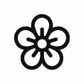 Flower Icon Isolated On White Background. Flower Icon In Trendy Design Style. Flower Vector Icon Mod poster