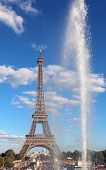 View Of The Eiffel Tower From The Trocadero In Paris France poster