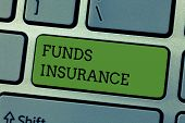 Writing Note Showing Funds Insurance. Business Photo Showcasing Form Of Collective Investment Offere poster