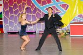 stock photo of olympiad  - Salsa dancers compete on World Dance Olympiad - JPG