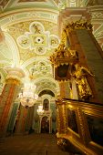 Cathedral in the Peter and Paul Fortress, St Petersburg, Petropavlovsk, view from inside