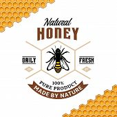 Vector Honey Vintage Logo poster