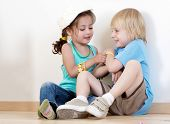 picture of children playing  - Children playing to a kindergarten - JPG