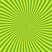 Green Psychedelic Background With Rays, Lines Or Stripes Converging In Center. Square Decorative Bac poster