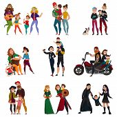 Various Subcultures, Families Of Hippie, Rastafarians, Bikers, Punks, Metalheads, Goths, Hipsters Ca poster