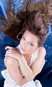 pic of good-looker  - Beautiful brunette posing  - JPG