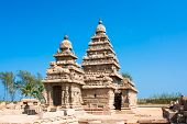 Famous shore temple at Mamallapuram,Tamil Nadu,  India