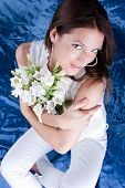 foto of good-looker  - Beautiful brunette posing  - JPG