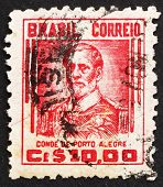Postage stamp Brazil 1941 Count of Porto Alegre