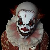 pic of staples  - Scary clown glaring at you.