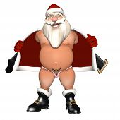 foto of indecent  - Santa Flashing in a Reindeer Thong - JPG