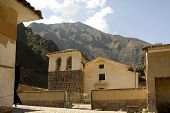 stock photo of conquistadors  - Ollantayambo is small city in the Sacred Valley where Manco Inca the last great Incan ruler made his stand against the Spanish conquistadors - JPG
