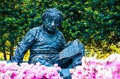 stock photo of albert einstein  - Albert Einstein Memorial in at the National Academy of Sciences in WashingtonDC - JPG