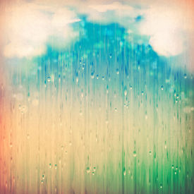 picture of rainy season  - Colorful rain - JPG
