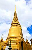 stock photo of tantric  - A golden pagoda Grand Palace in Bangkok  - JPG