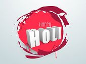 Indian color festival Holi background with buckets with full of colours and pichkari (colour gun) on