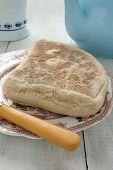 stock photo of baking soda  - Traditional Irish Soda Bread or Soda Farls - JPG