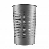 pic of dustbin  - Metal garbage bin - JPG